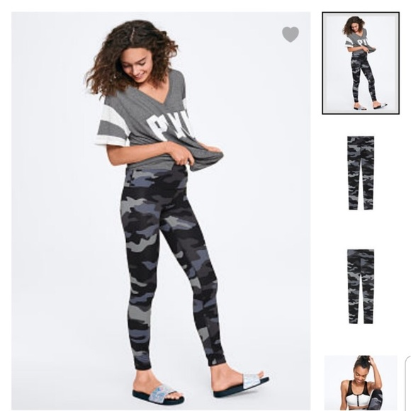90f4d60629d9c1 PINK Victoria's Secret Pants   Pink Black And Grey Camo Ultimate ...